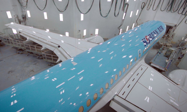 Le 1er CS300 de Korean Air fait son roll-out