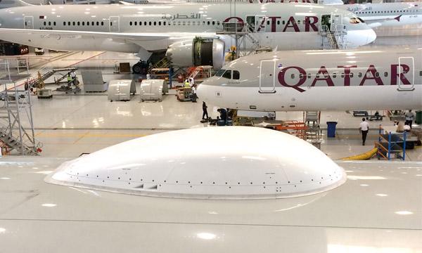 Le kit radôme SUMS d'EAD Aerospace monte à bord des 777 de Qatar Airways
