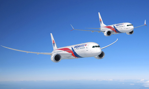 Malaysia Airlines s'engage pour 8 Boeing 787 et 8 737 MAX