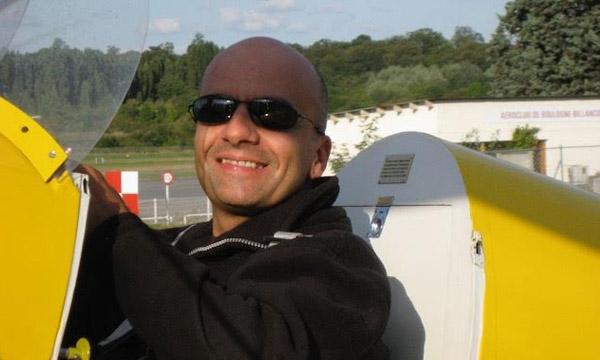 Franck Soubrane en phase d'approche pour le Vintage Air Rally
