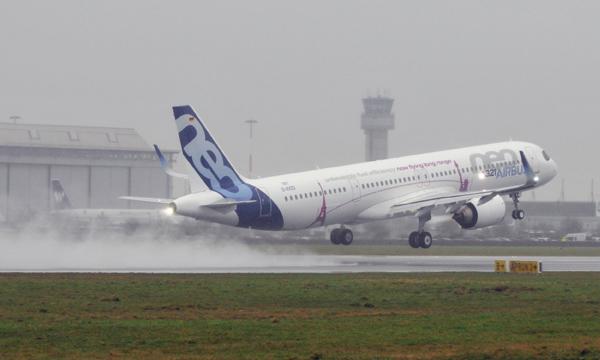 L'Airbus A321LR décolle pour la première fois