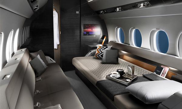 La cabine, atout majeur du nouveau Falcon 6X de Dassault Aviation