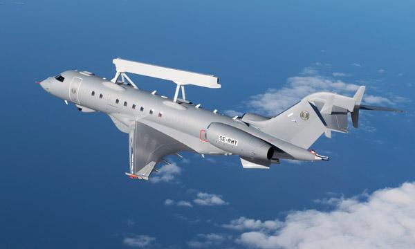 Le GlobalEye de Saab fait son premier vol