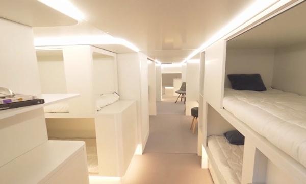 Aircraft Interiors 2018 : Airbus et Zodiac vont proposer des modules de couchettes en compartiment cargo