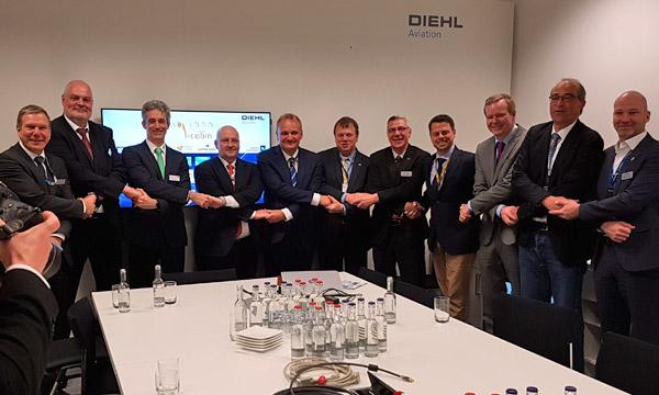 Aircraft Interiors 2018 : Diehl, Zodiac, Boeing, Jeppesen, Etihad, KID Systeme main dans la main pour une cabine intelligente
