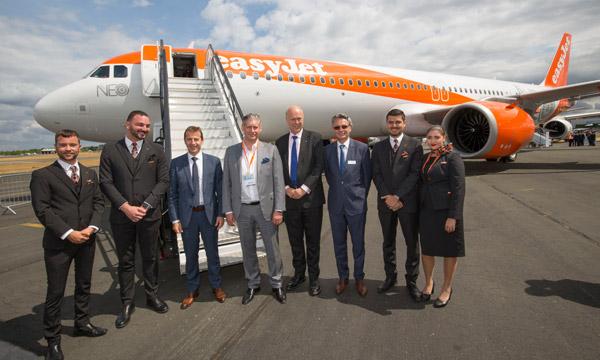 Farnborough 2018 : easyJet reçoit son 1er A321neo et revoit ses perspectives à la hausse