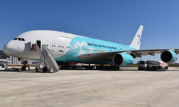 Farnborough 2018 : Hi Fly présente un Airbus A380 militant