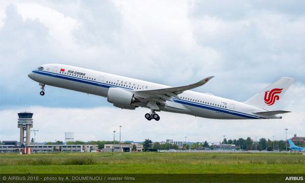 Photo : Air China réceptionne son premier Airbus A350-900