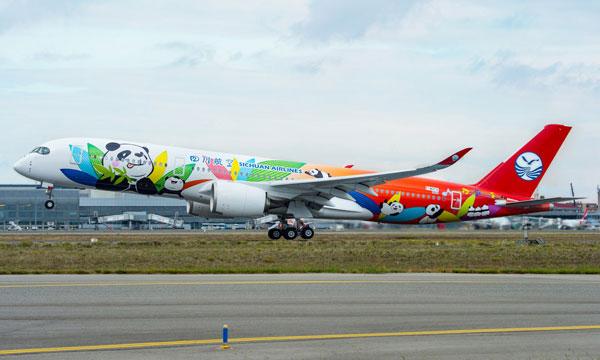 Sichuan Airlines reçoit son premier A350
