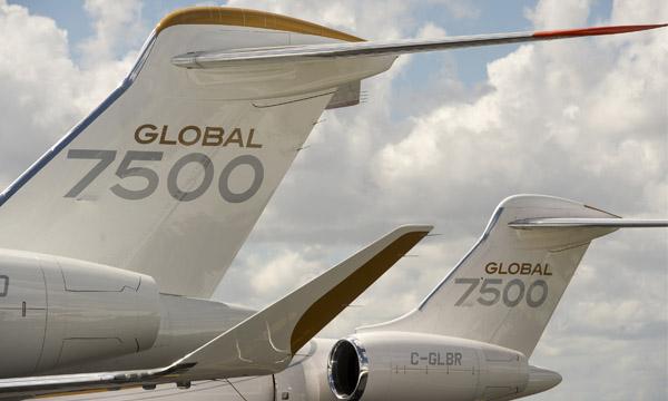 Le Global 7500 de Bombardier se prépare à entrer en service