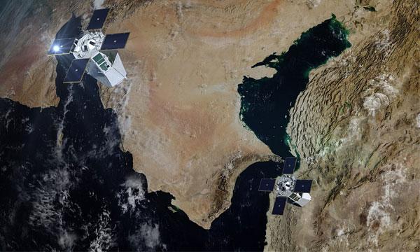 De l'espace au désert, itinéraire d'une image satellitaire