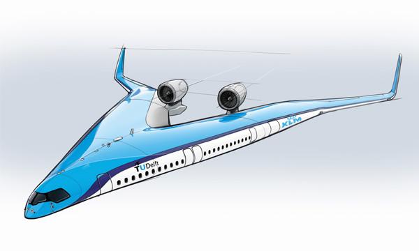 KLM soutient TU Delft dans la conception de l'avion du futur