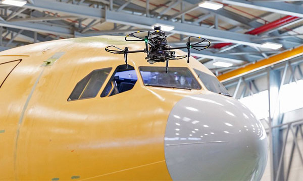 Drone maintenance for the A400M