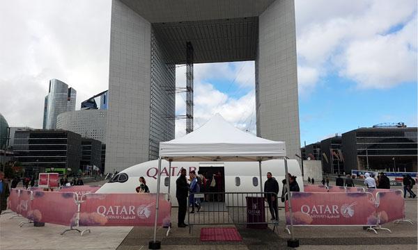 Qatar Airways expose son nouveau siège de classe économique à Paris