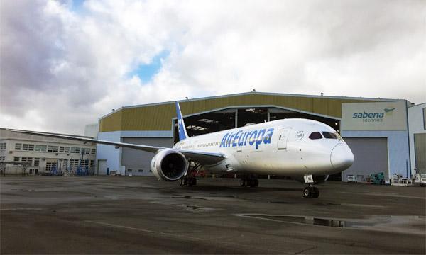 Sabena Technics : premier Check C sur un Boeing 787 pour Air Europa
