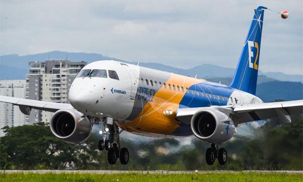 L'E175-E2 d'Embraer s'envole pour la première fois