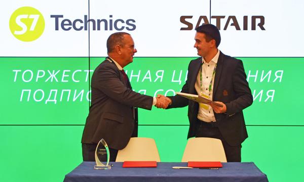 MRO : signature d'un accord stratégique entre S7 Technics et Satair pour la Russie et les pays de la CEI