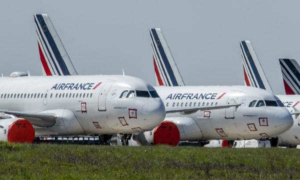 How Air France manages its grounded fleet before recovery time