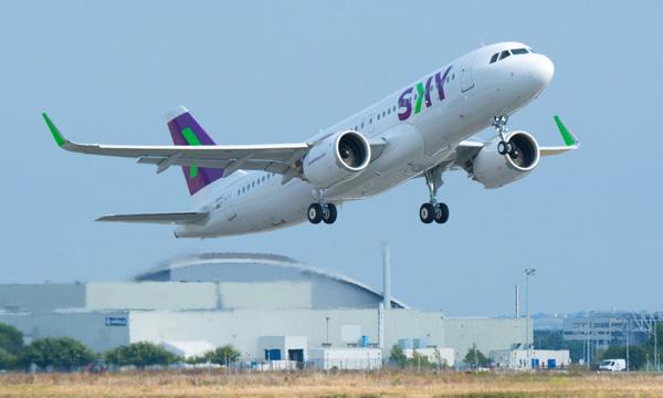 MRO : L'huile turbine NYCO étendue à la flotte d'Airbus A320neo de SKY Airline