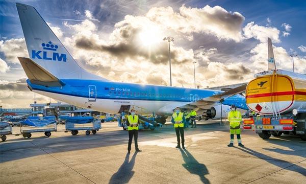 Premier vol avec du kérosène synthétique avec KLM