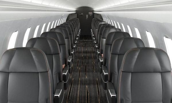 Embraer propose une conversion de ses ERJ145 en configuration semi-privée